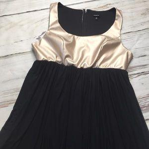 Torrid Dress Sleeveless Black Gold Fit Flare 18